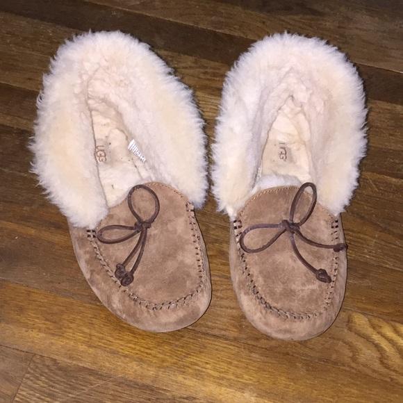 7443491bb0c Ugg Pure Alena suede slipper bootie sz 9 chestnut